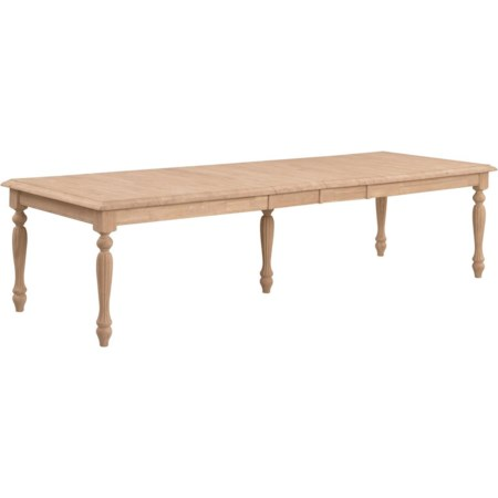 Waterfall Edge Extension Table w/ Fluted Leg