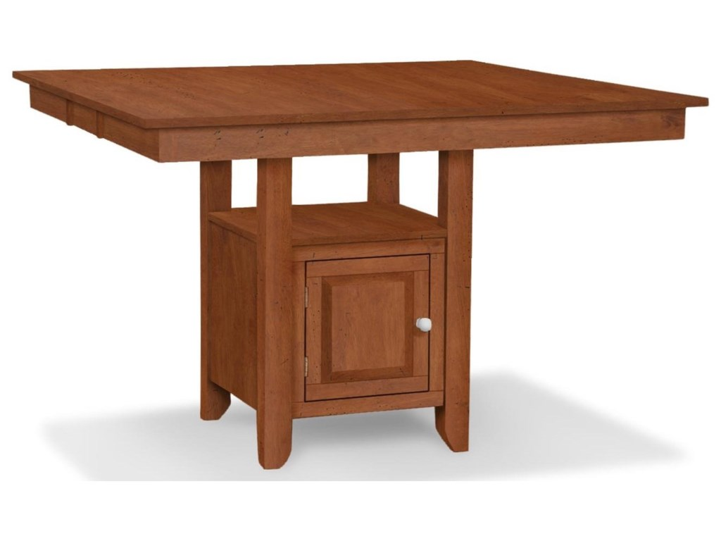 John Thomas SELECT DiningGathering Height Table with Pedestal Storage