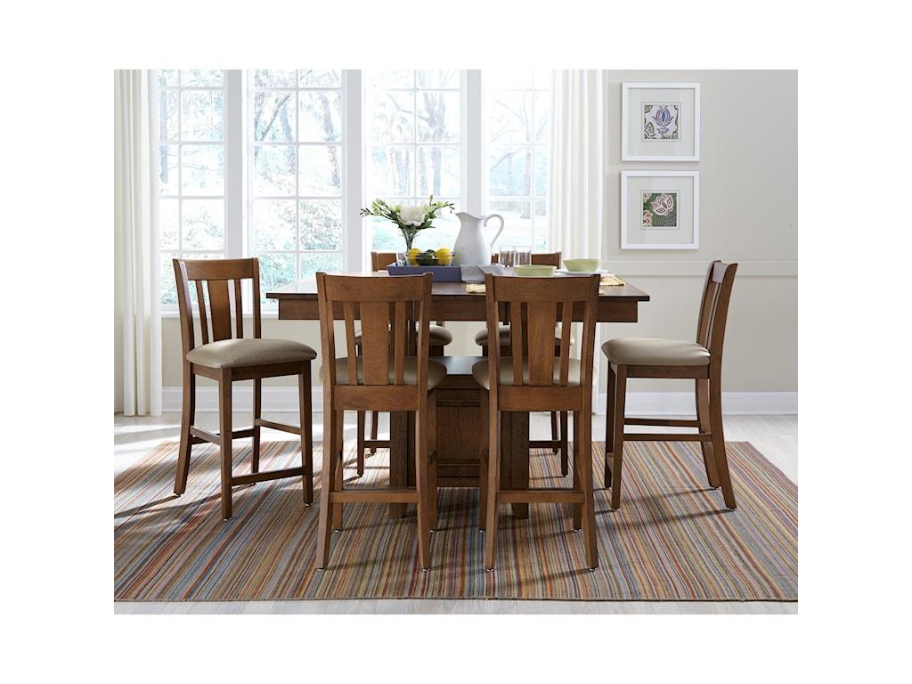 John Thomas SELECT DiningGathering Height Table with Pedestal Storage