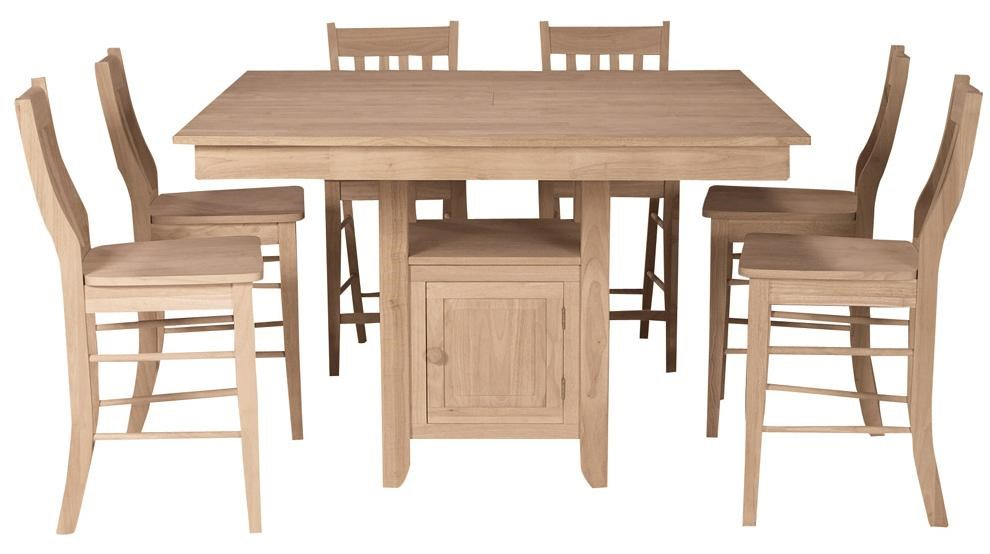 Shown with 6 Mission Stools