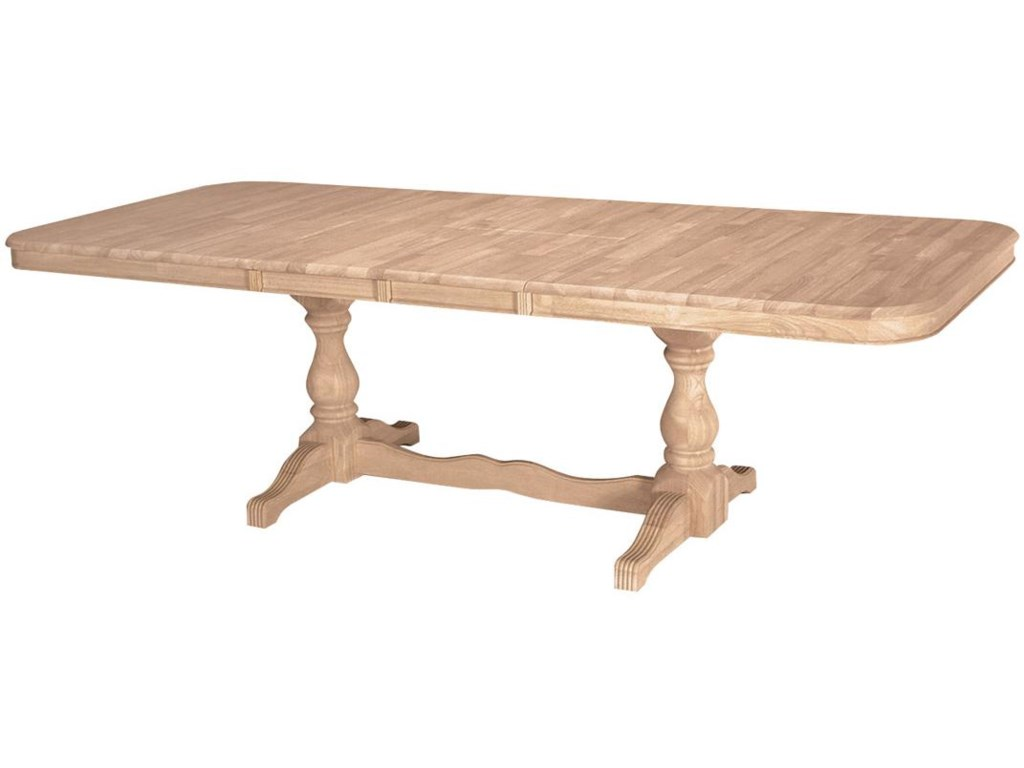 John Thomas SELECT DiningDouble Butterfly Leaf Trestle Table