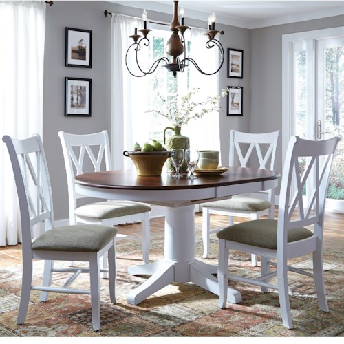 John Thomas Select Dining 5 Piece Dining Set With Double X Back Chairs Story Lee Furniture