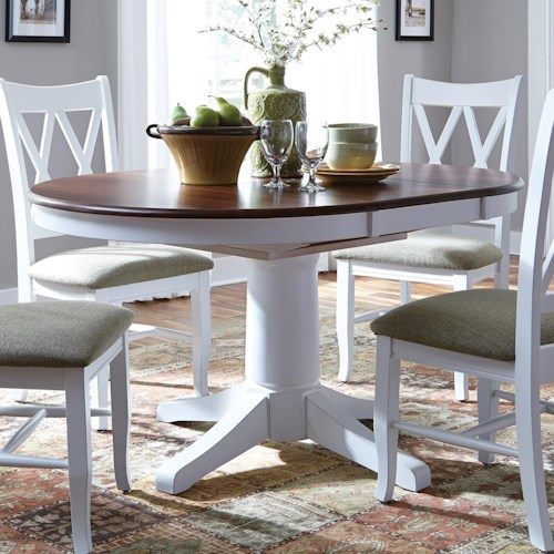 John Thomas SELECT Dining Round Pedestal Dining Table with Butterfly Top