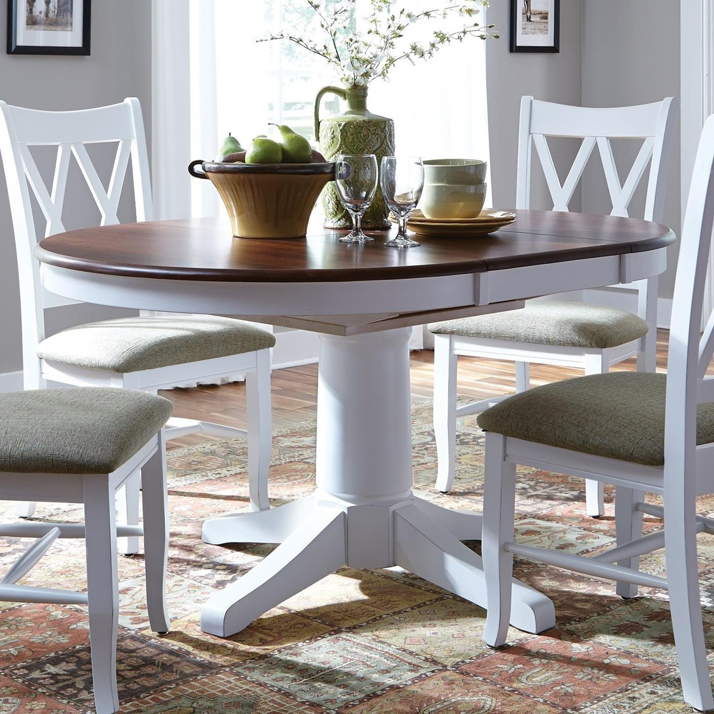 SELECT Dining Round Pedestal Dining Table With Butterfly Top By John Thomas  At Baeru0027s Furniture