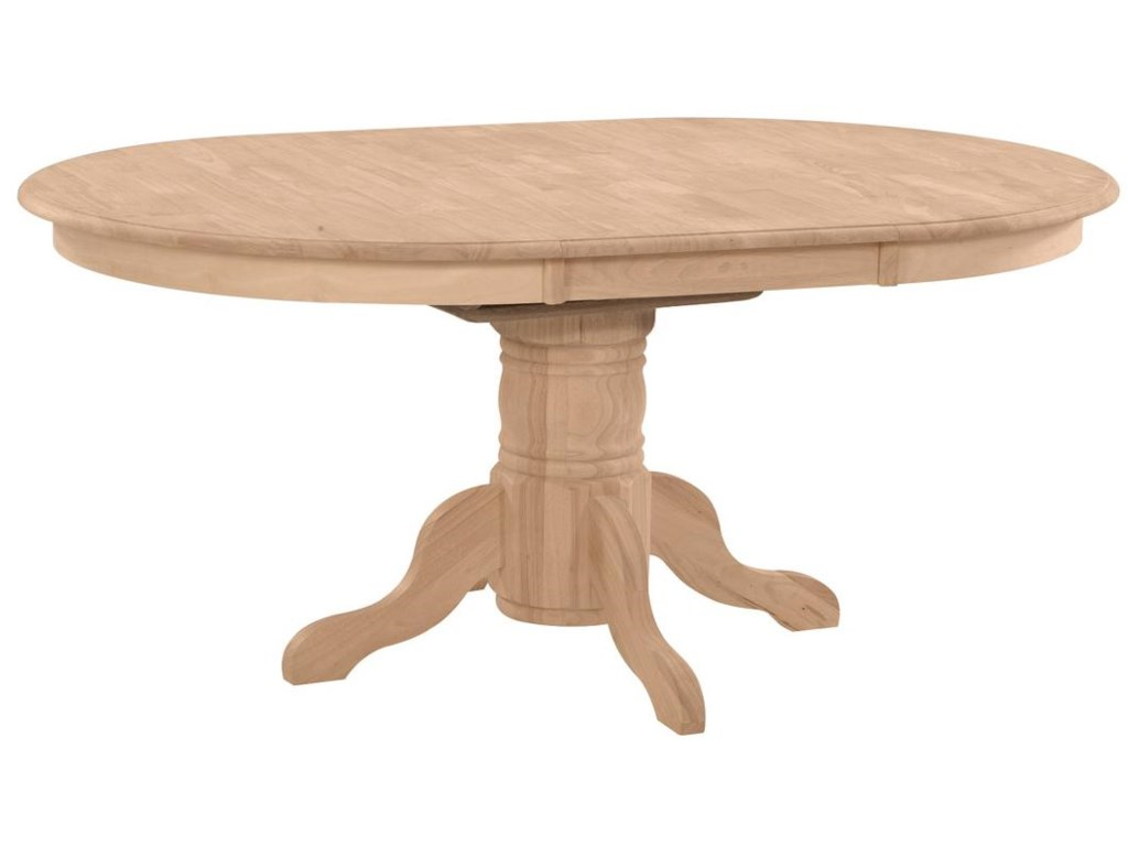 John Thomas SELECT DiningButterfly Leaf Oval Pedestal Dining Table