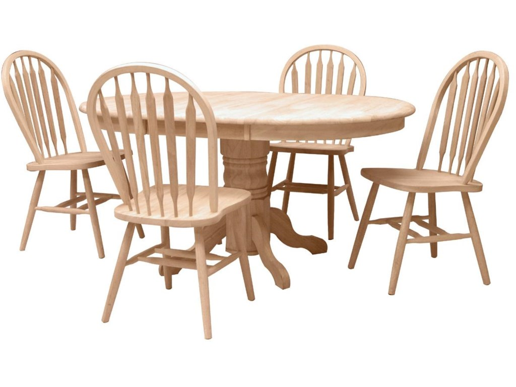 Shown with 4 Arrowback Windsor Chairs