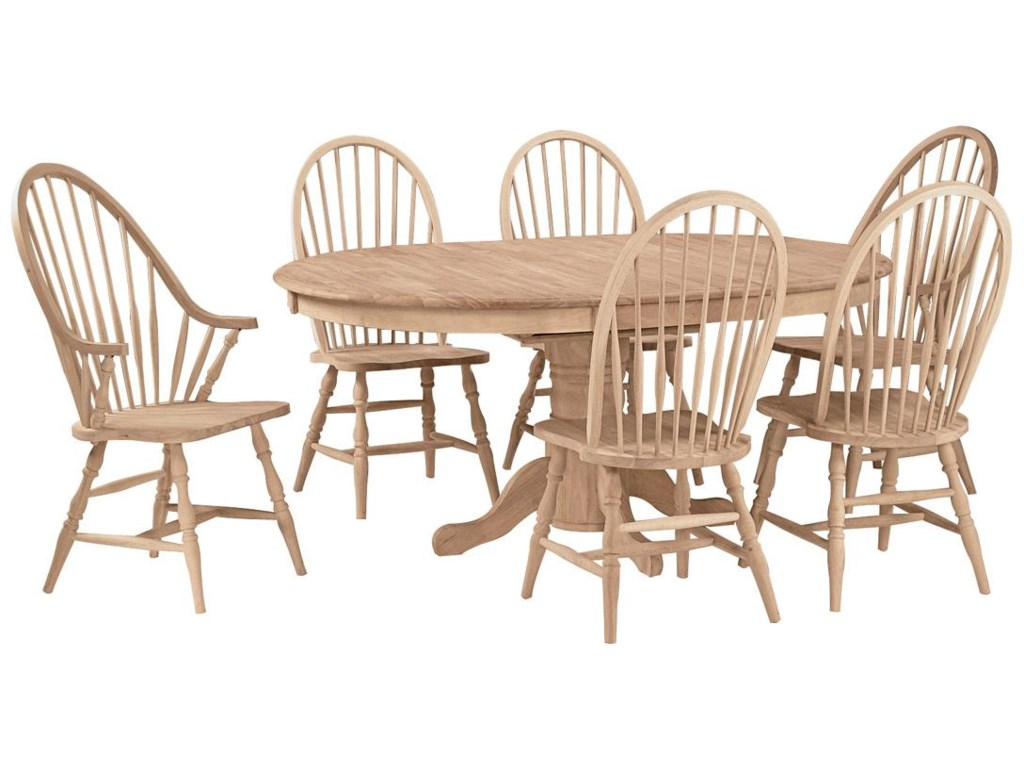 Shown with 6 Windsor Arm Chairs