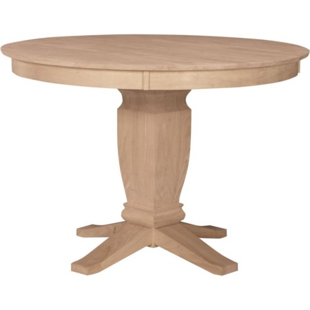 """52"""" Round Gathering Height Pedestal Table"""