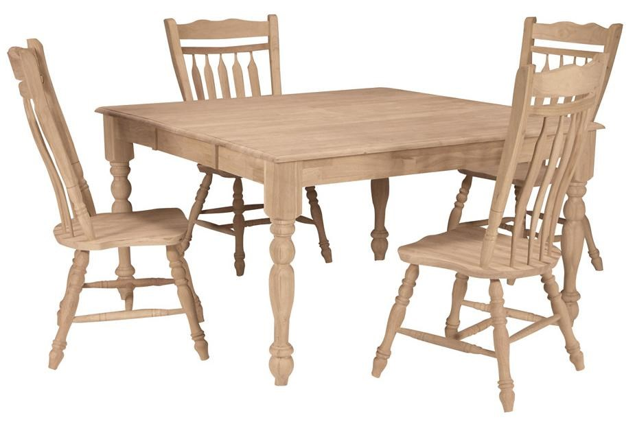 Shown with 4 Colonial Chairs