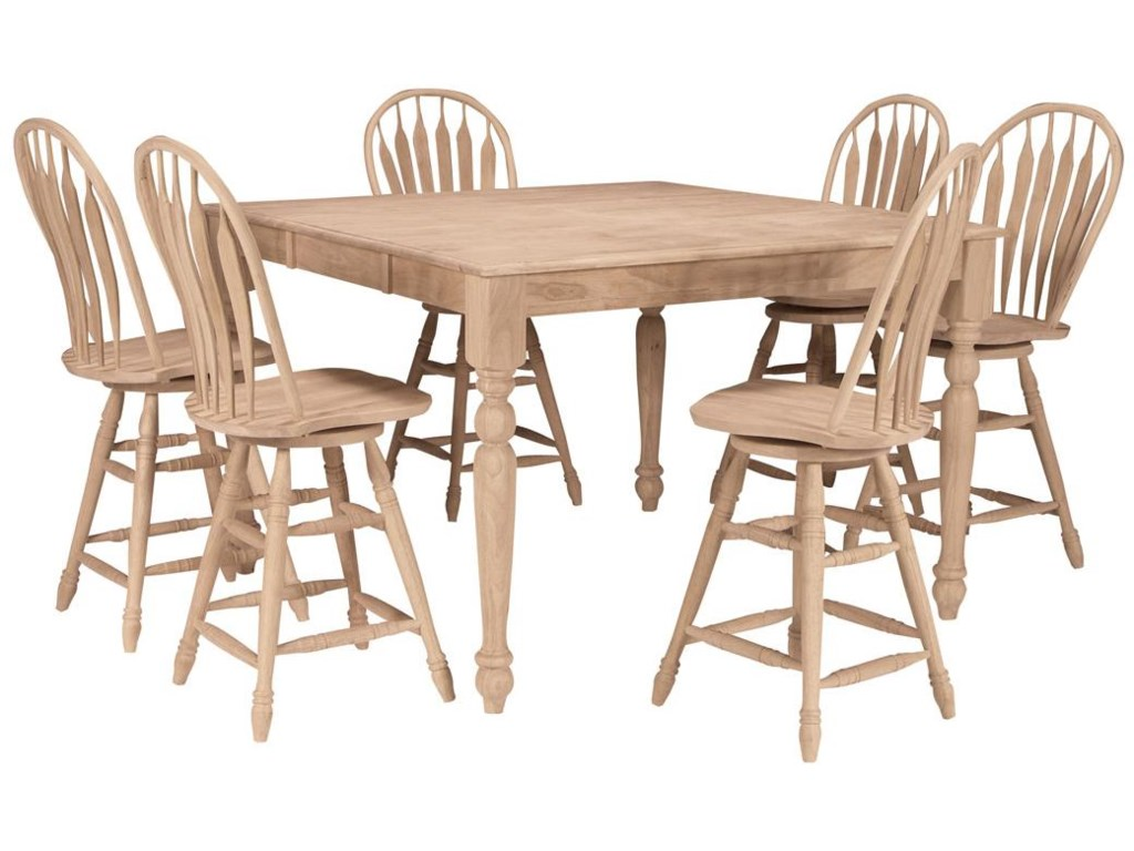 Shown with 6 Steambent Windsor Stools
