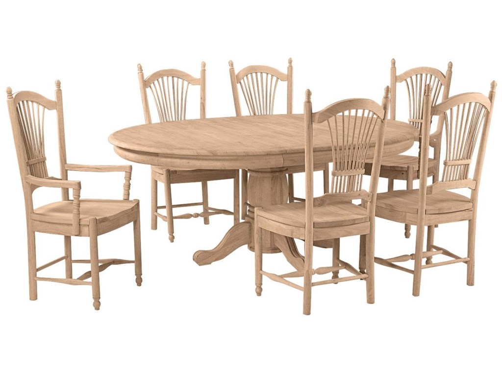 Shown with 6 Sheaf Back Chairs