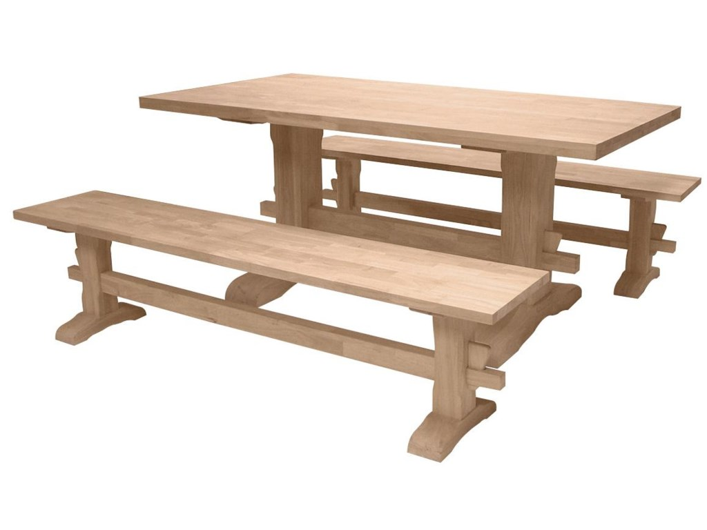 John Thomas SELECT DiningTraditional Trestle Table
