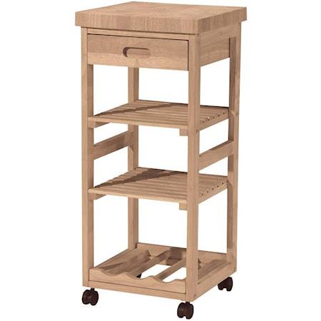 3-Shelf 1-Drawer Trolley Cart