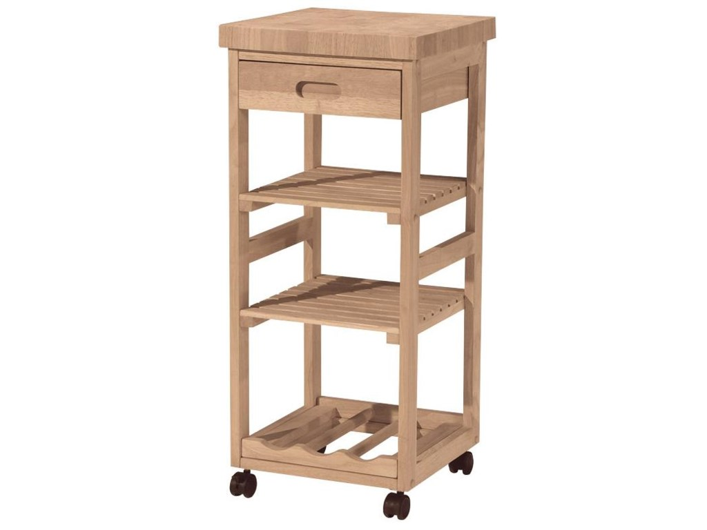 John Thomas SELECT Dining3-Shelf 1-Drawer Trolley Cart