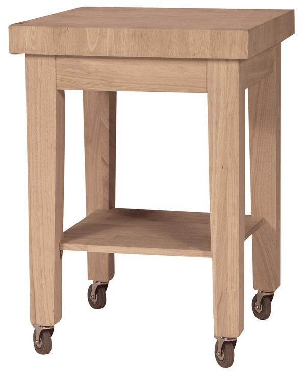 John Thomas Select Dining Butcher Block Island With Casters