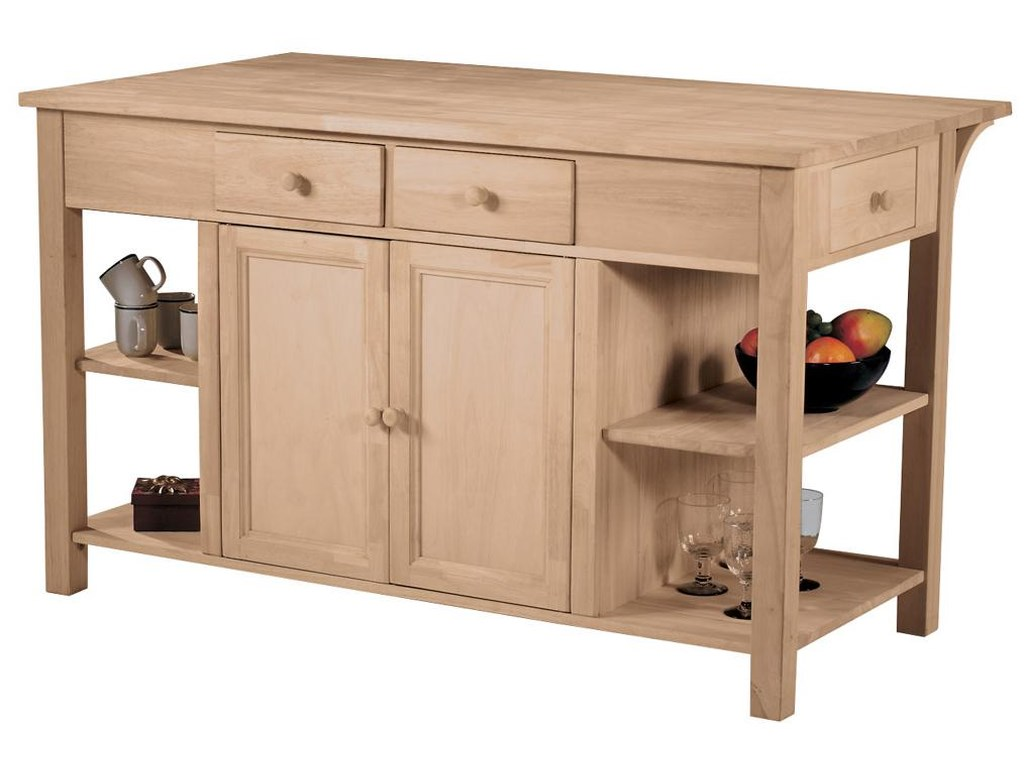 John Thomas SELECT DiningSuper Kitchen Center with Breakfast Bar