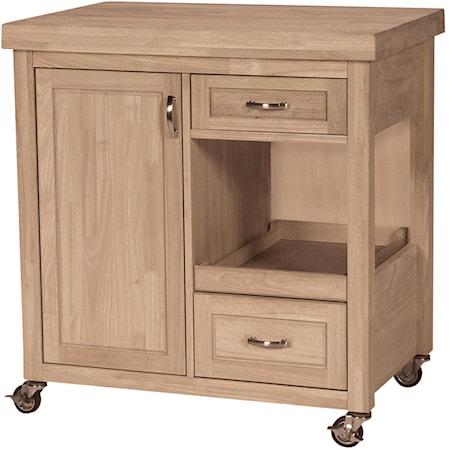 2-Drawer 1-Door Kitchen Work Center