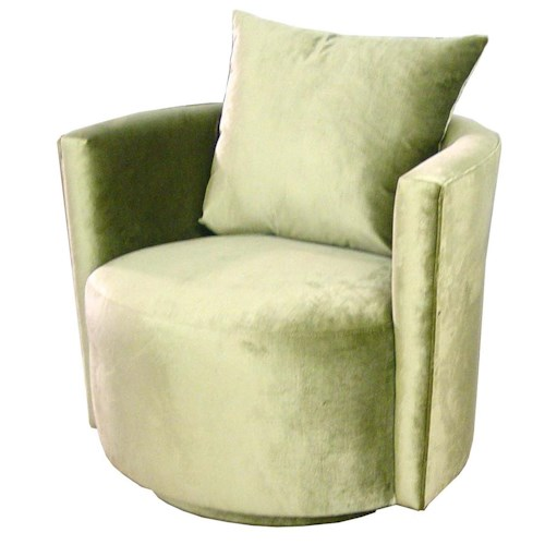 Jonathan Louis 051 Contemporary Swivel Chair with Round Base and Back
