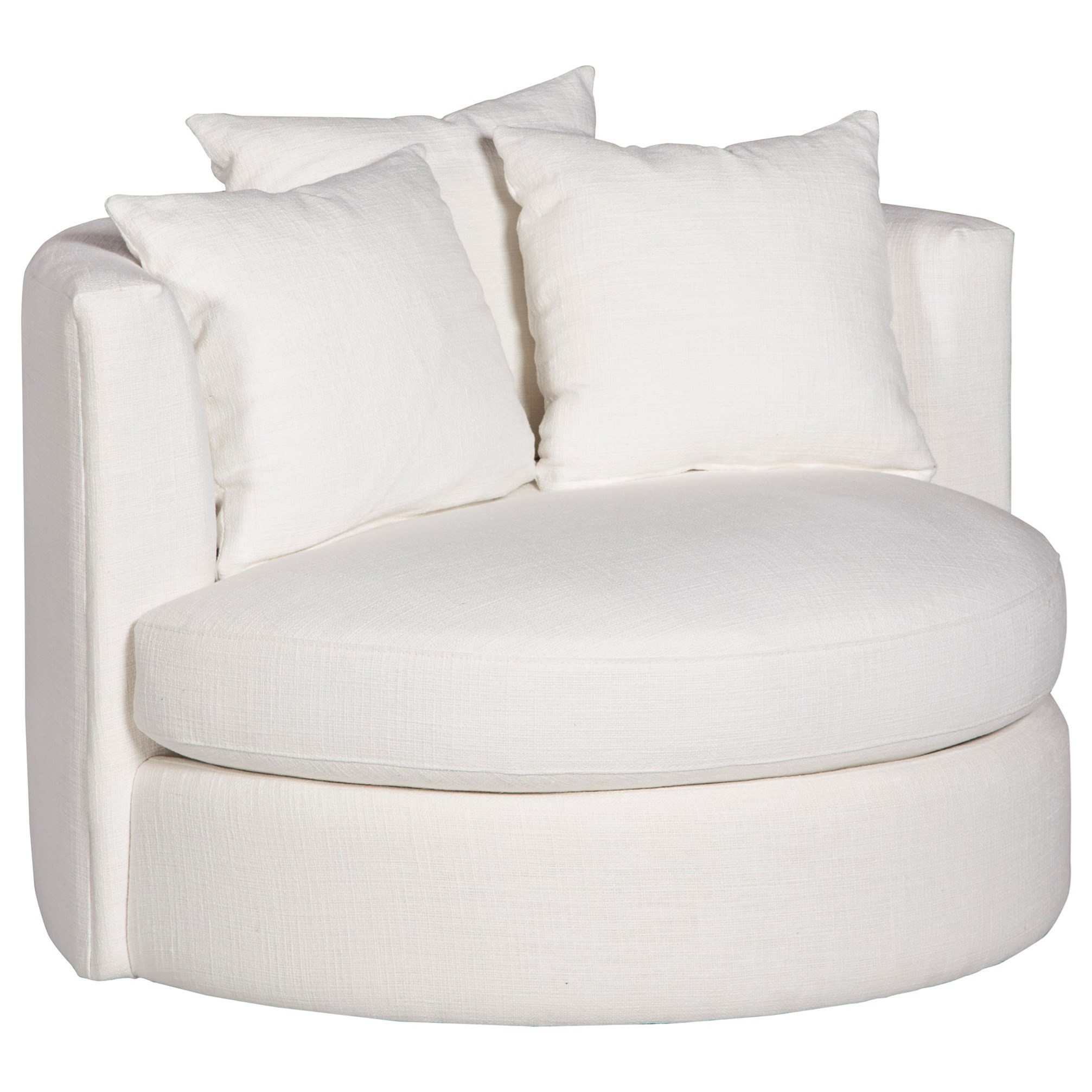 Roundabout Contemporary Swivel Chair With Wide Seat