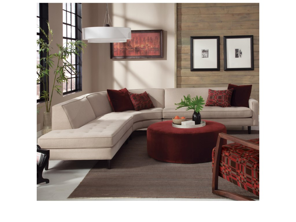 Jonathan Louis TrentonContemporary Sectional with Chaise