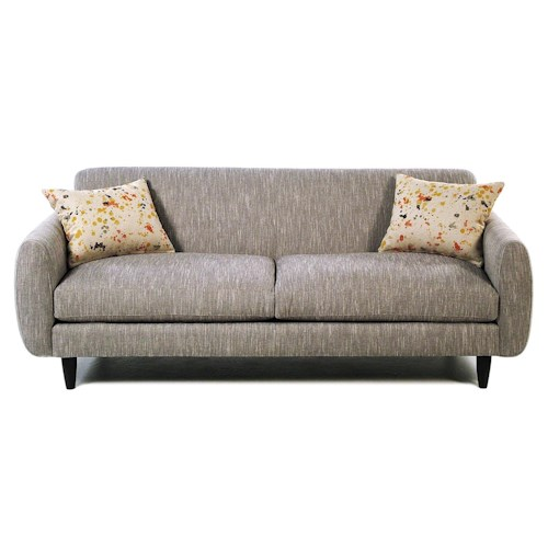 Jonathan Louis Splash Contemporary Sofa with Tapered Feet and 2 Throw Pillows