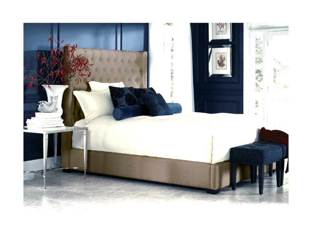 Jonathan Louis Carly Queen Upholstered Bed with Footboard Storage ...