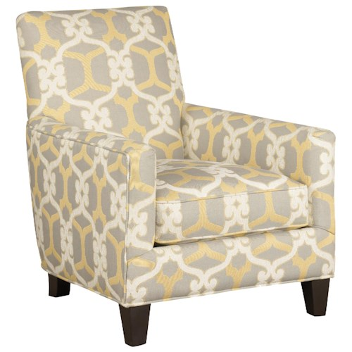 Jonathan Louis Accentuates Contemporary Accent Chair with Track Arms