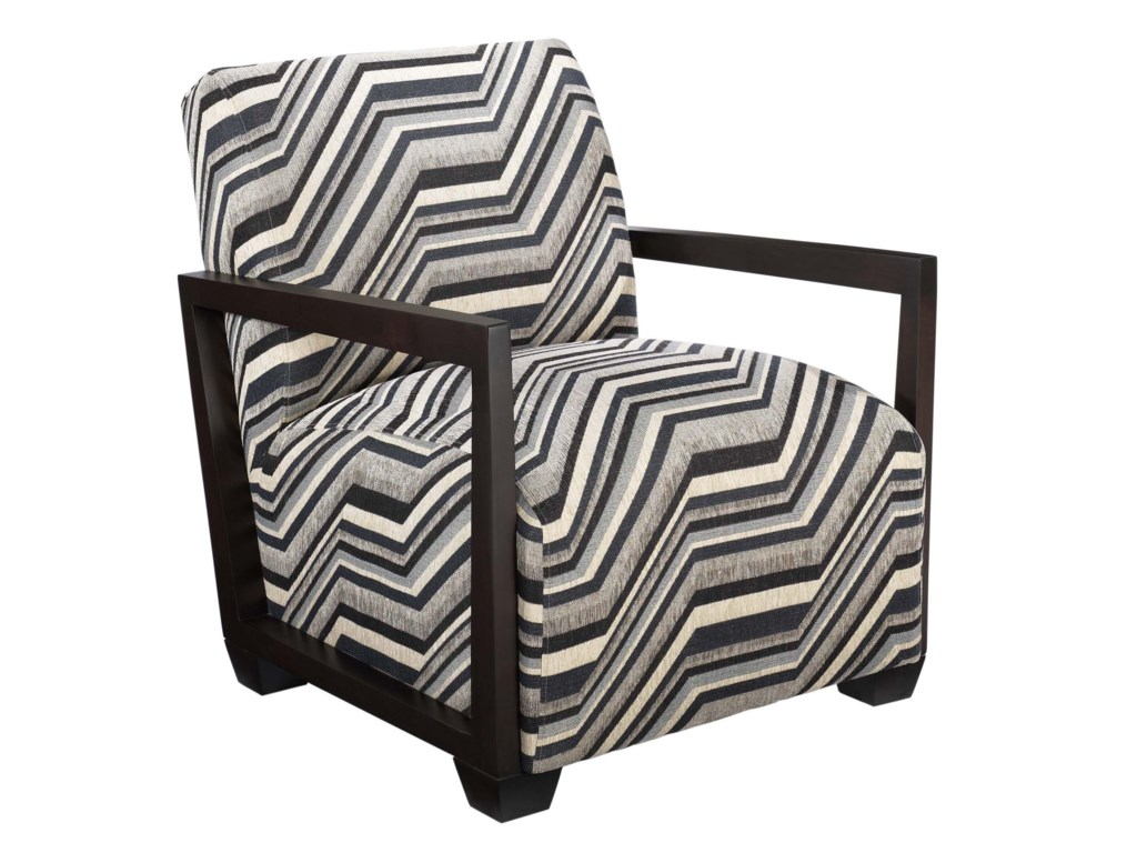 Jonathan Louis AccentuatesAccent Chair with Exposed Wood Arms