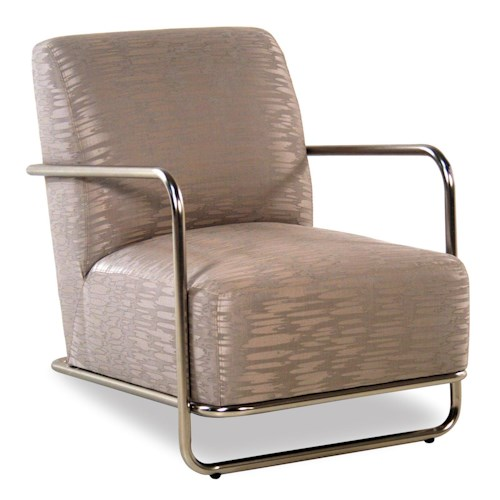 Jonathan Louis Accentuates Mercury Accent Chair w/ Brushed Nickel Frame