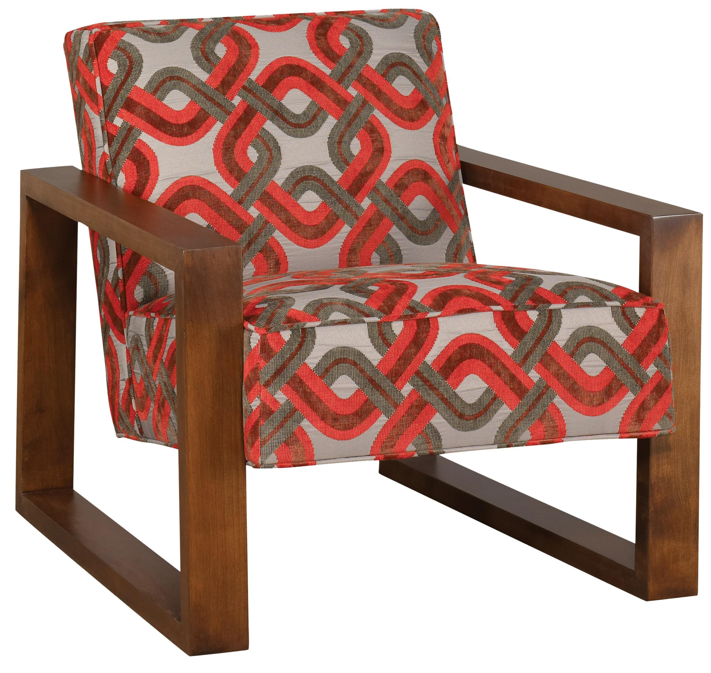 Jonathan Louis Accentuates Tyson Accent Chair With Exposed Wood Arms And  Legs