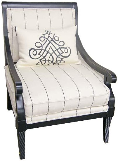 Jonathan Louis Accentuates Fernand Exposed-Wood Accent Chair