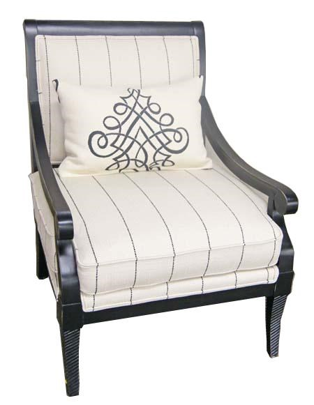 Jonathan Louis Accentuates Fernand Exposed Wood Accent Chair