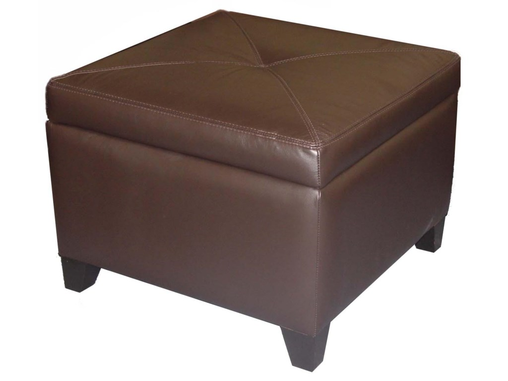 Jonathan Louis AccentuatesMiles Leather Storage Ottoman