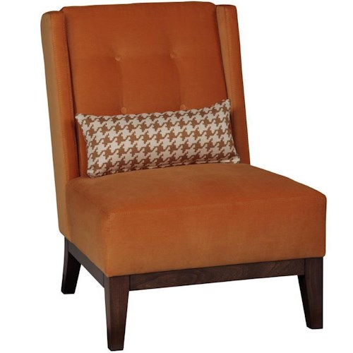 Jonathan Louis Allen Contemporary Armless Accent Chair with Tufting