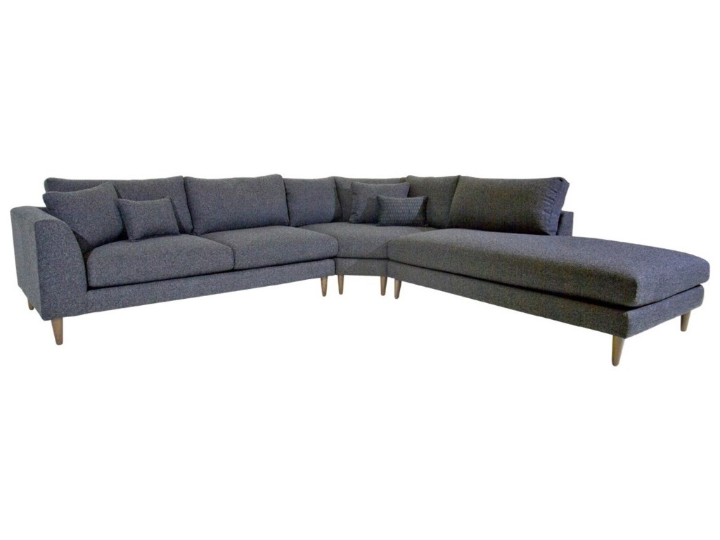 Jonathan Louis Anton3 Pc Sectional Sofa w/ RAF Chaise