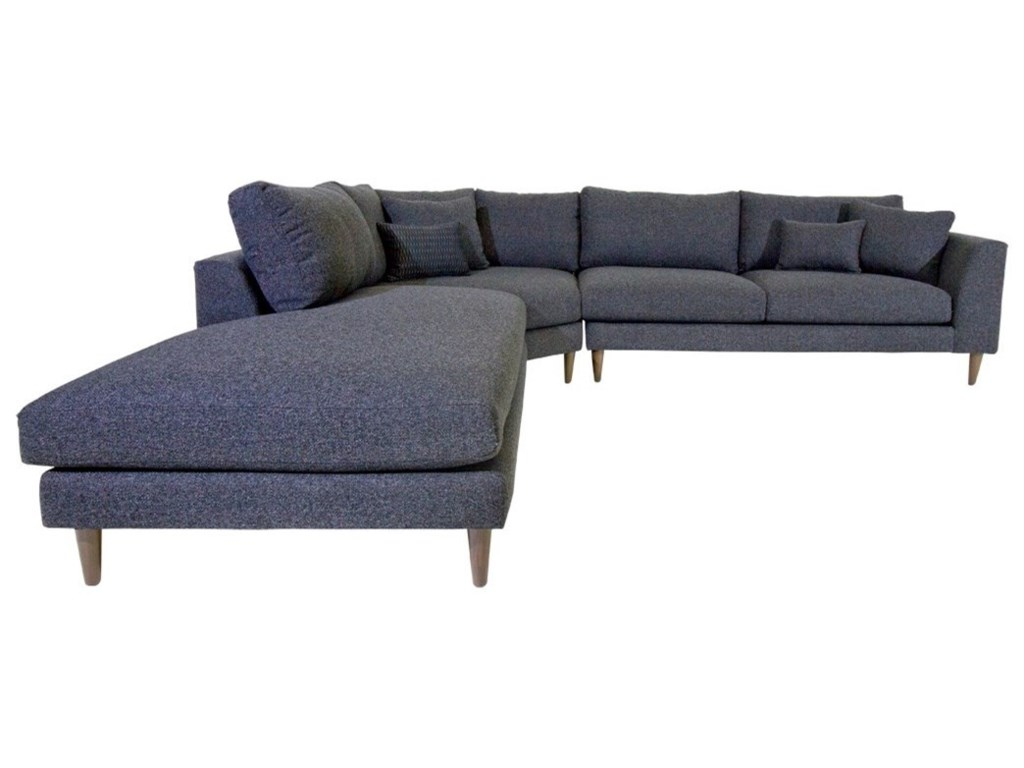 Jonathan Louis Anton Three Piece Contemporary Sectional Sofa with ...