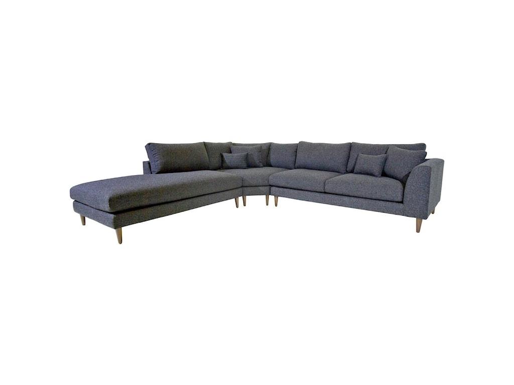 Jonathan Louis Anton3 Pc Sectional Sofa w/ LAF Chaise