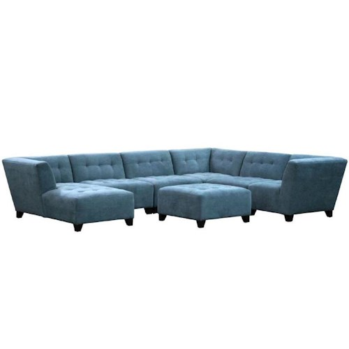 Jonathan Louis Belaire Contemporary Sectional with Tufted Seat and Seat Back