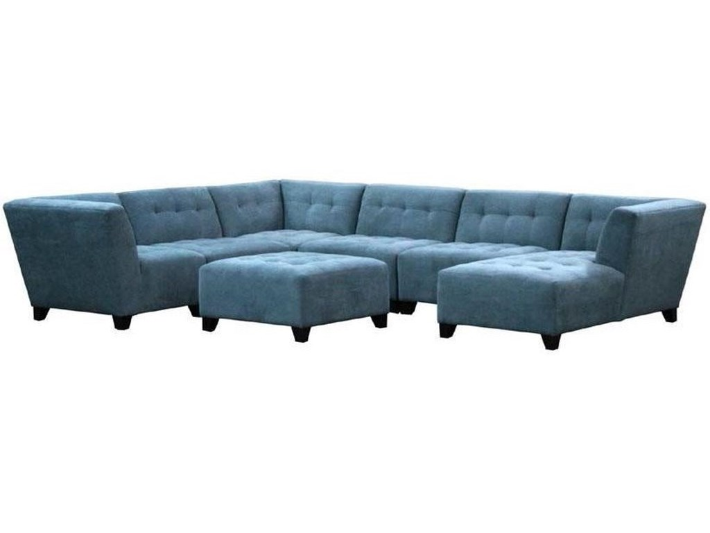 Jonathan Lewis Furniture >> Jonathan Louis Belaire Contemporary Sectional With Tapered