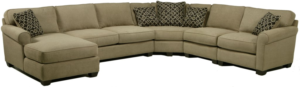 Jonathan Louis Benjamin Sectional Sofa With Seating Wedge Chaise  ~ How To Measure A Sectional Sofa With Wedge