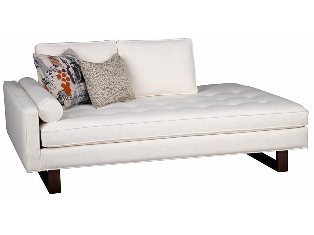 Jonathan louis bennett contemporary left arm facing chaise with tufted cushion fashion furniture chaises
