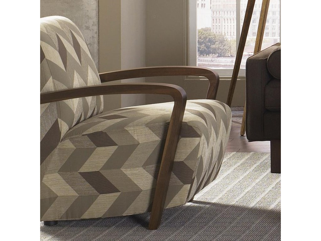 Jonathan Louis Bennett Contemporary Angled Seat Accent Chair With