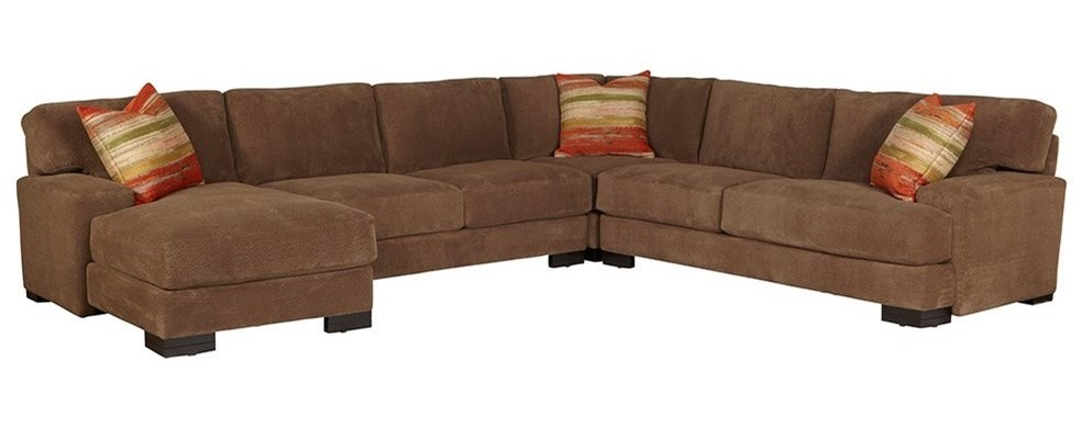 Jonathan Louis Burton Casual Sectional Sofa With Low Track Arms