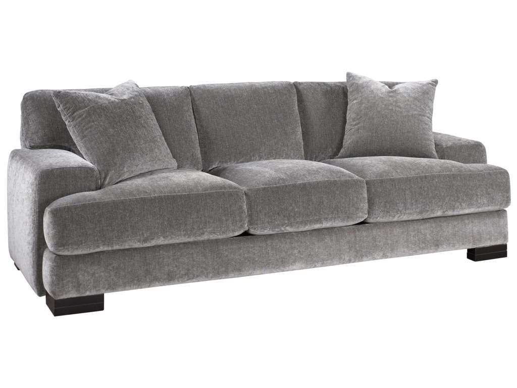 Burton Modern Sofa with Low Track Arms and Exposed Wood Feet by Jonathan  Louis at Fashion Furniture