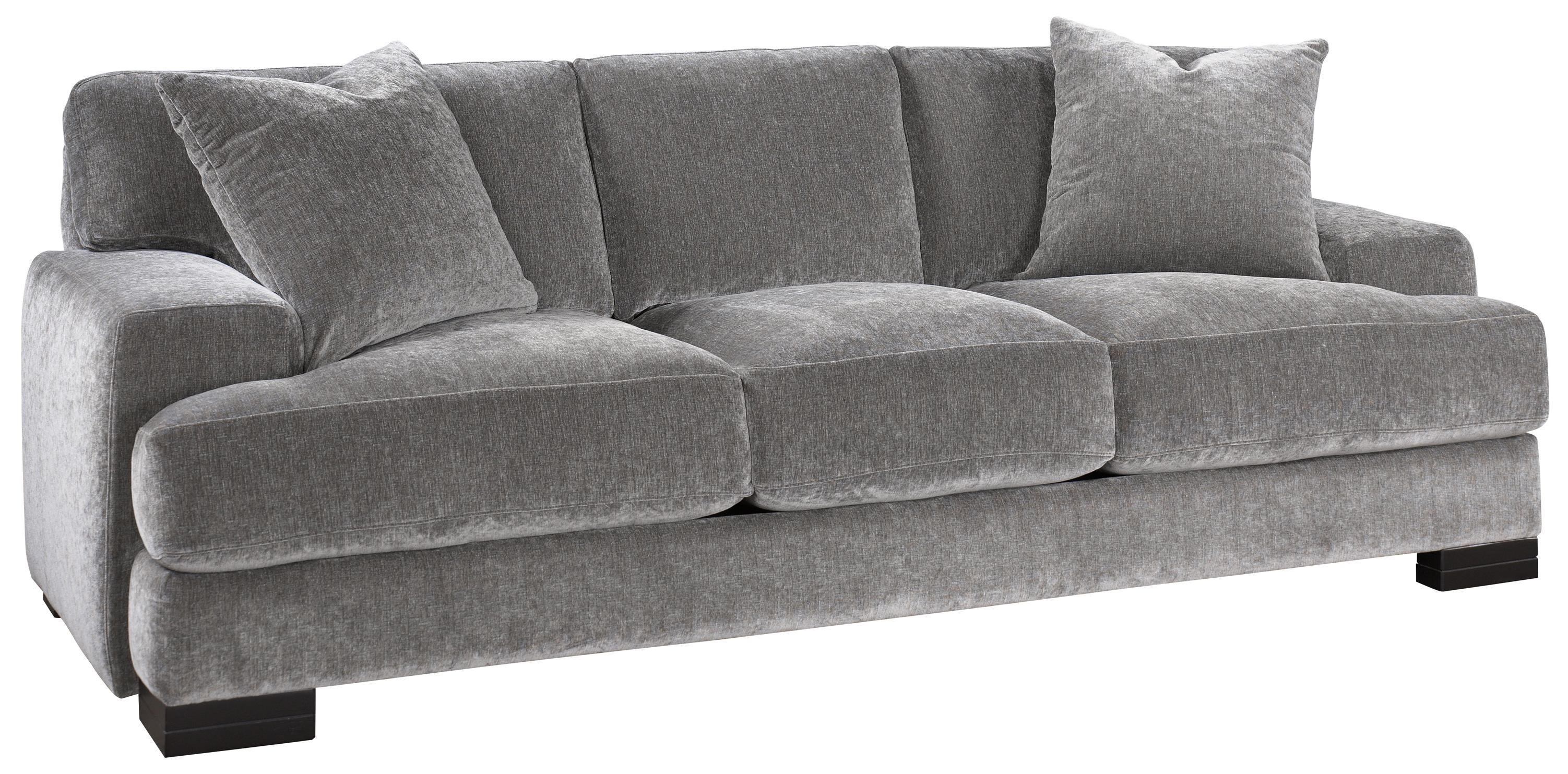 Jonathan Louis Burton Modern Sofa With Low Track Arms And Exposed Wood Feet    Conlinu0027s Furniture   Sofas