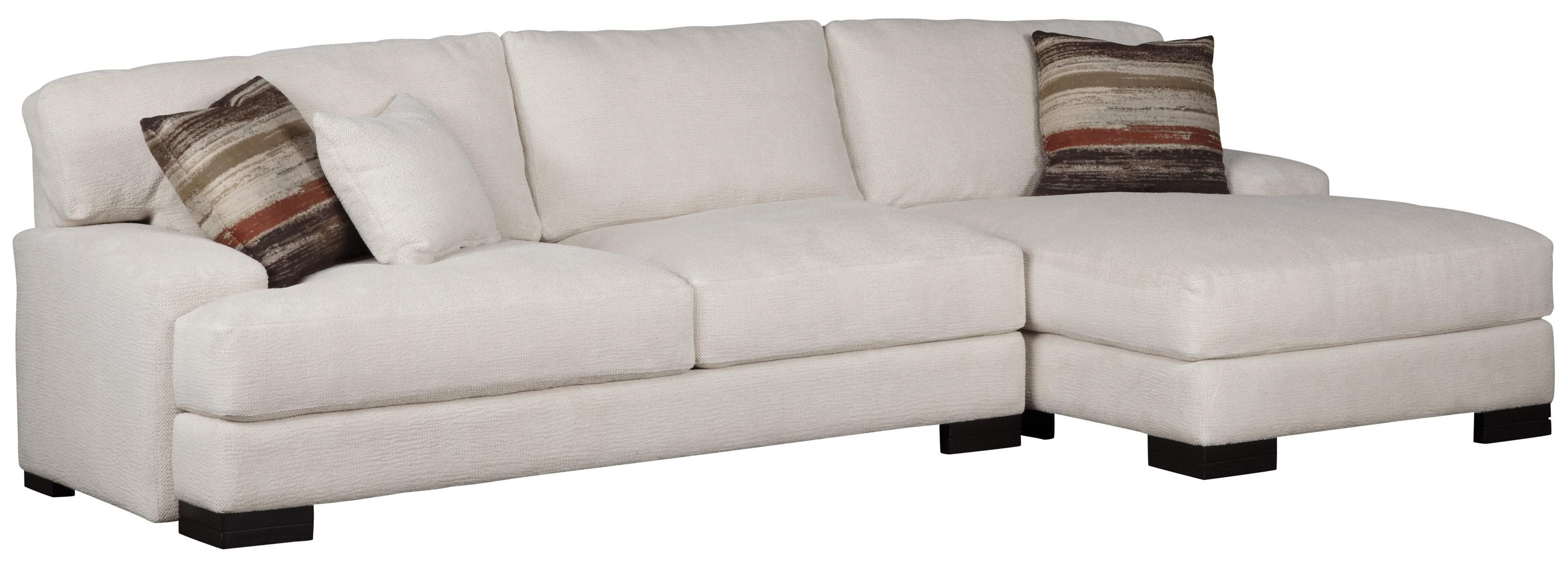 Jonathan Louis Burton Modern Sectional With Right Chaise   Miskelly  Furniture   Sectional Sofas