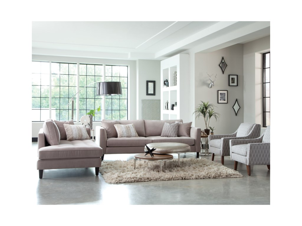 Jonathan Louis Calista Modern Estate Sofa with Tufted Seat and Toss ...