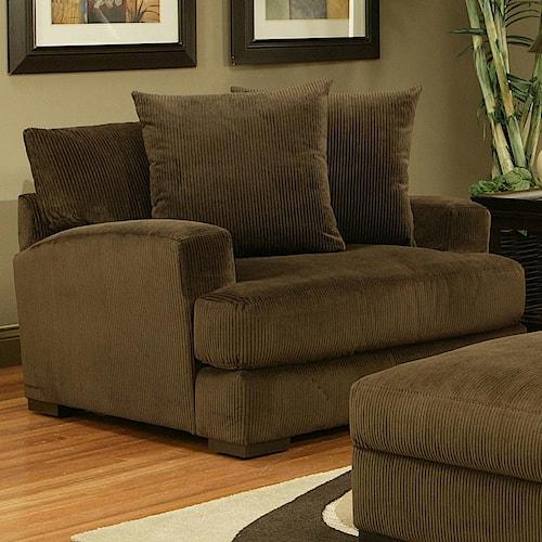 Jonathan Louis Carlin Upholstered Arm Chair