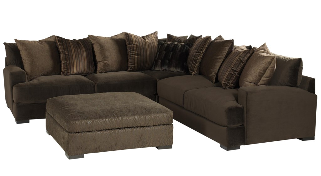 Jonathan Louis Carlin Contemporary Sofa Sectional Group With Loose