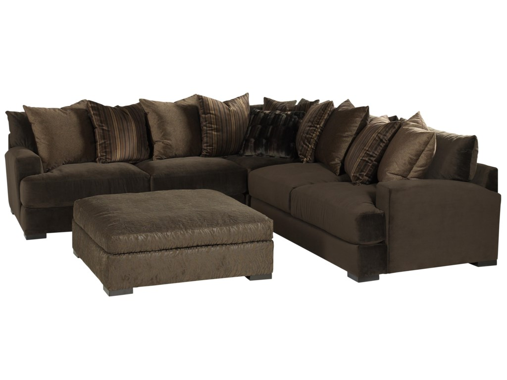Jonathan Louis Carlin Casual Contemporary Sofa Sectional ...